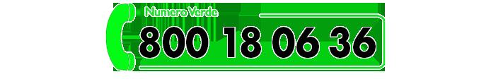 numero verde 800 18 06 36
